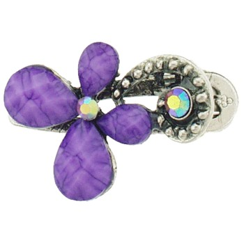 SOHO BEAT - French Fashionista - Moonstone and Crystal Flowering Claw Clip - Refreshing Lavender (1)