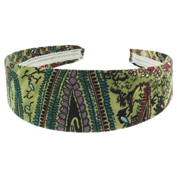 SOHO BEAT - Travelling Gypsy - Boho Headband - Jungle Green and Tribal Purple