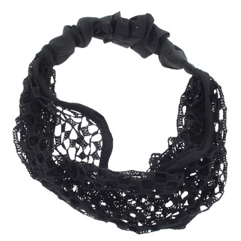 SOHO BEAT - Mysterious Mermaid - Round Mesh Bandeau Stretch Headband - Midnight Marvel