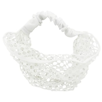 SOHO BEAT - Mysterious Mermaid - Round Mesh Bandeau Stretch Headband - White SeaFoam