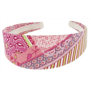 SOHO BEAT - Hawaiian Punch - Fabric Headband - Pink Kiwi Lemonade
