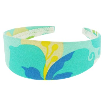 SOHO BEAT - Hawaiian Punch - Fabric Headband - Blue Hibiscus