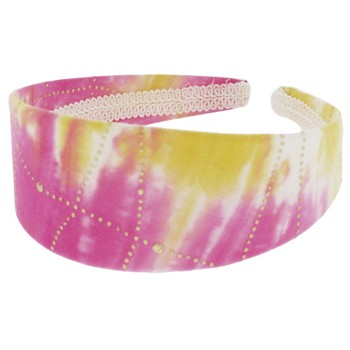 SOHO BEAT - Woodstock Love - Tie Dye Fabric Headband - Insane Pink Lemonade