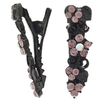 SOHO BEAT - Boudoir Chic - Blossoming Daisy on the Vine Mini-Condor Clips (Set of 2) - Alluring Light Amethyst