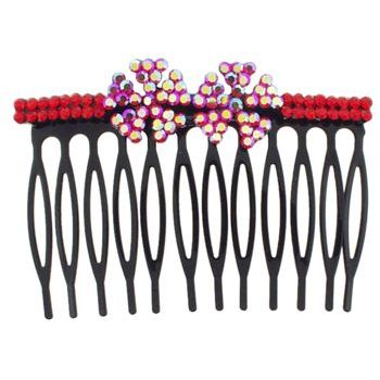 SOHO BEAT - Crystal Avenue - Crystal  Double Pinwheel Comb - Garnet