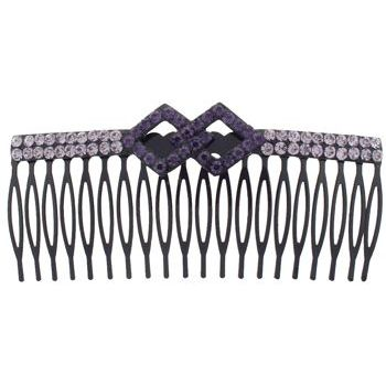 SOHO BEAT - Crystal Avenue - Crystal Double Rhombus Comb - Violet
