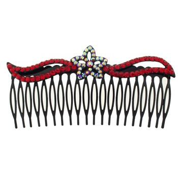 SOHO BEAT - Crystal Avenue - Crystal Star Flower Comb - Garnet