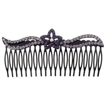 SOHO BEAT - Crystal Avenue - Crystal Star Flower Comb - Violet