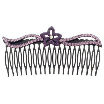 SOHO BEAT - Crystal Avenue - Crystal Star Flower Comb - Amethyst
