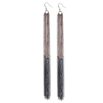 SOHO BEAT - Spanish Soiree - Ultra Long Mail Armour Earrings - Bronze