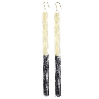 SOHO BEAT - Spanish Soiree - Ultra Long Mail Armour Earrings - Gold