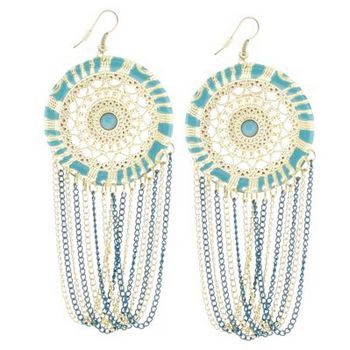 SOHO BEAT - Spanish Soiree - La Fiesta Earrings - Turquoise