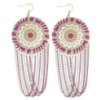 SOHO BEAT - Spanish Soiree - La Fiesta Earrings - Magenta