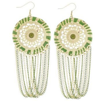 SOHO BEAT - Spanish Soiree - La Fiesta Earrings - Kiwi