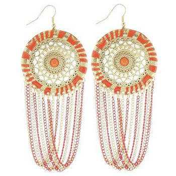 SOHO BEAT - Spanish Soiree - La Fiesta Earrings - Tangerine