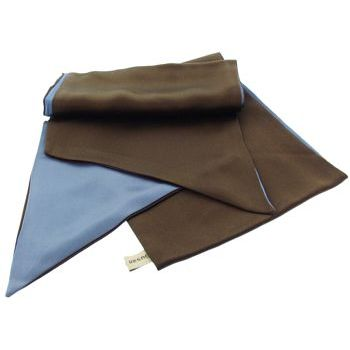 Susan Daniels - Soft Silk Double Sided Sash - Chocolate & Slate Blue (1)