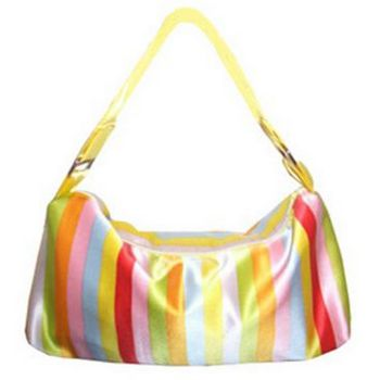 Amici Accessories - Sherbert Dream  - Silk Rainbow Handbag