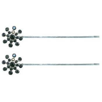 HB HairJewels - Starburst Crystal Hairpins - Smoky Black (2)