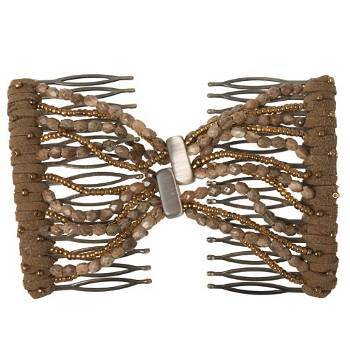 Evita Peroni - Summer Double Comb - Stucco - Connected Beaded Combs (1)