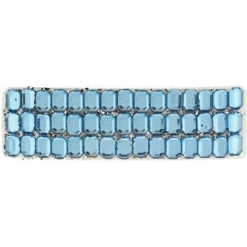 HB HairJewels - Rhinestone Inspired & Glitter Barrette - Light Blue