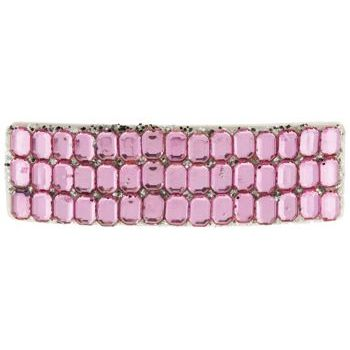 HB HairJewels - Rhinestone Inspired & Glitter Barrette - Light Pink
