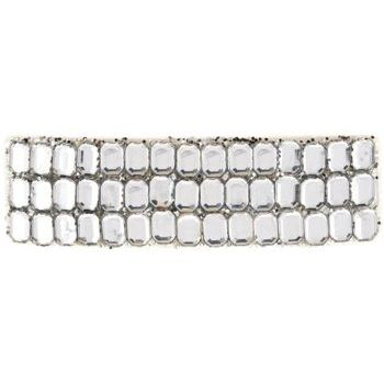 HB HairJewels - Rhinestone Inspired & Glitter Barrette - White