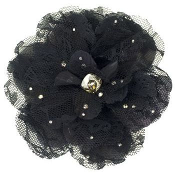 Tarina Tarantino - Lace Flower Anywhere Clip - Black
