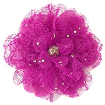 Tarina Tarantino - Lace Flower Anywhere Clip - Fuchsia