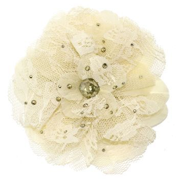 Tarina Tarantino - Lace Flower Anywhere Clip - Ivory