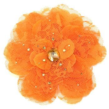 Tarina Tarantino - Lace Flower Anywhere Clip - Orange