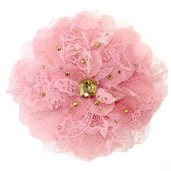 Tarina Tarantino - Lace Flower Anywhere Clip - Pink