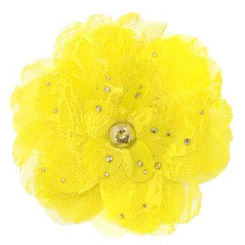 Tarina Tarantino - Lace Flower Anywhere Clip - Yellow