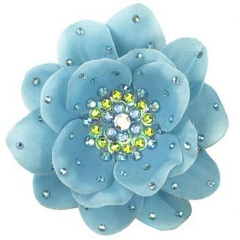 Tarina Tarantino - Large Poppy Flower Anywhere Clip - Aqua