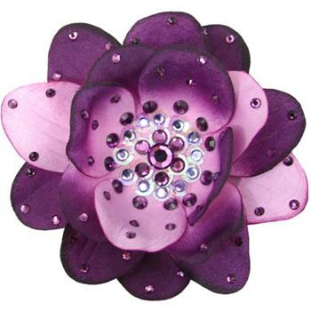 Tarina Tarantino - Large Poppy Flower Anywhere Clip - Tanzanite