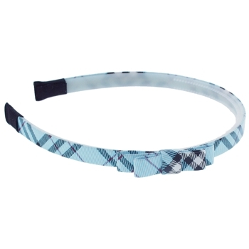 HB HairJewels - Lucy Collection - Classic Prep Headband w/Bow - Blue (1)