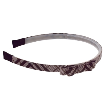 HB HairJewels - Lucy Collection - Classic Prep Headband w/Bow - Dark Chocolate (1)