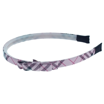HB HairJewels - Lucy Collection - Classic Prep Headband w/Bow - Pink (1)