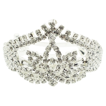 Karen Marie - Bridal Collection - Diamond Tiara Pony Barrette (1)