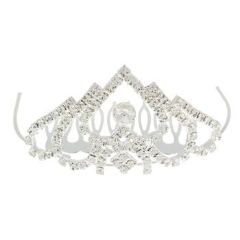 Karen Marie - Tiara Comb (1) - Spade Shaped Top w/Round Crystal Accent (1)