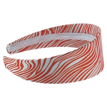 HB HairJewels - Lucy Collection - Satin Zebra Stripe Headband - Orange (1)