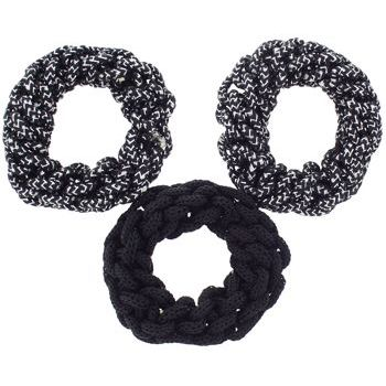 HB HairJewels - Lucy Collection - Braided Hair Elastic - Black & Silver Sparkle (Set of 3)