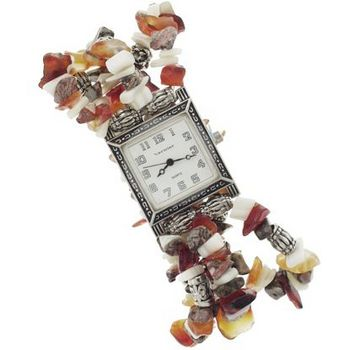 Karen Marie - Brighton Inspired - Chipped Stone Bracelet Watch � Natural