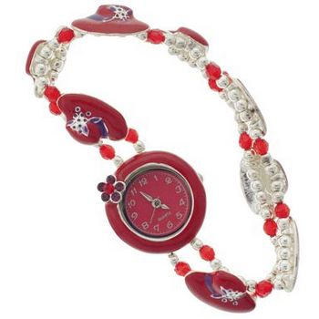 Karen Marie - Red Hat Society Bracelet Watch