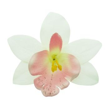 Karen Marie - Le Fleur Collection - Large Cymbidium Orchid - White w/Pink (1)