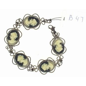 Alex and Ani - Cameo Bracelet - Black (1)