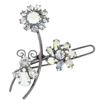 Alex and Ani - Small Flower Hair Clip - White AB (1)
