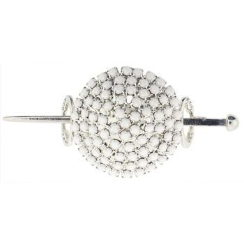 Alex and Ani - Hair Sweep - Round w/White Moonstones (1)