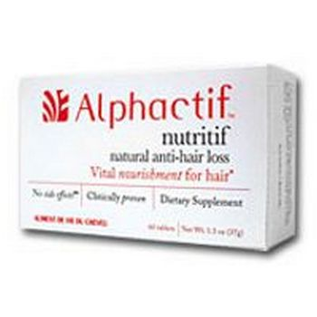 Alphactif nutritif - Vital Nourishment for Hair, Proven to Stop Excessive Hair Loss* - 60 capsules