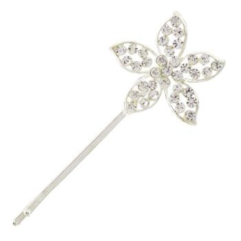 Betty Wales - Crystal Stargazer Flower Bobby Pin (1)
