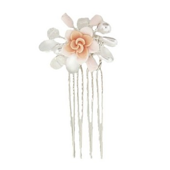 Betty Wales - Pink Crystal Flower Pin (1)